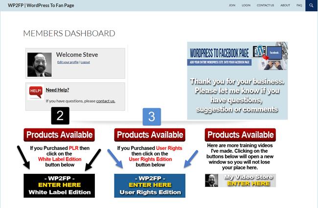 WordPress to Facebook Page step 2