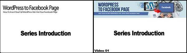 WordPress to Facebook Page White Label and non-White Label looking splash screen images
